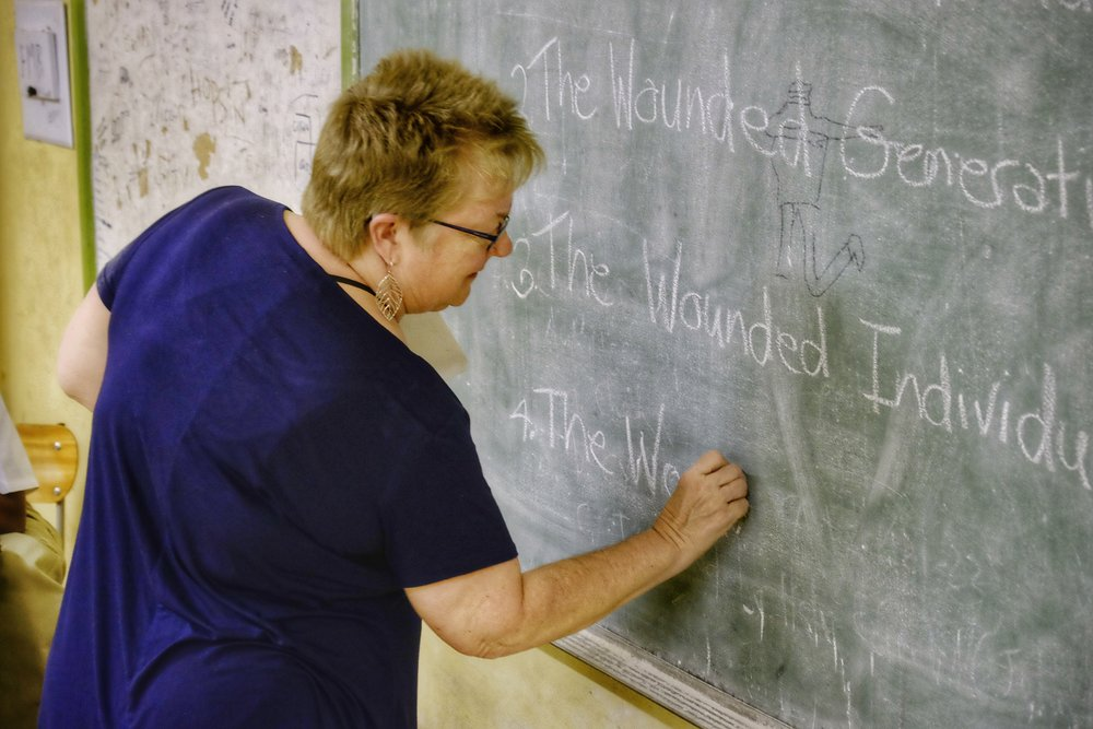 We had a blackboard (or whiteboard) for every session in Namibia which was a treat.