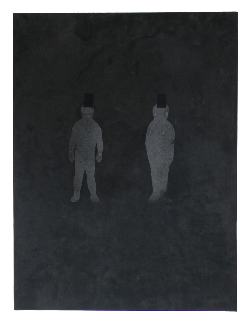 two mylar figures