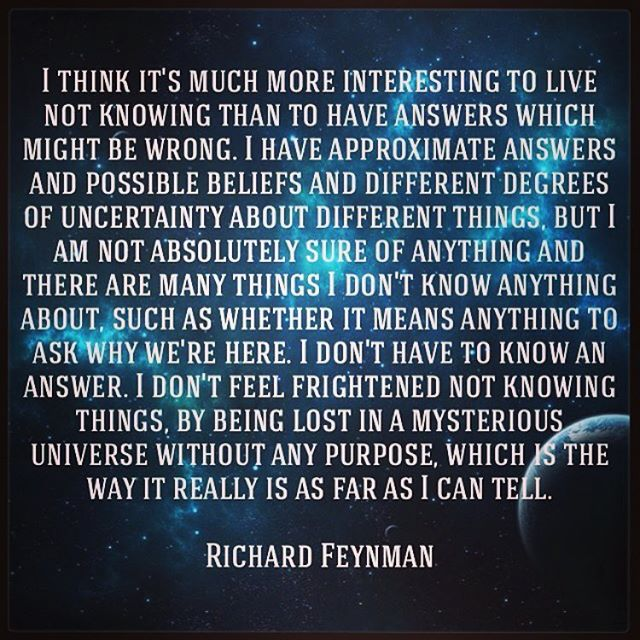 Rest in your wonder. #stayhumble #staycurious #sejtalks #richardfeynman