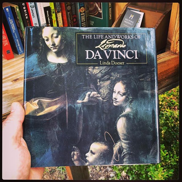 Genius... Don't miss @hfbclub on June 5th at @thewilddetectives! #leonardodavinci #HFLFL #helpingfriendly #littlefreelibrary #genius