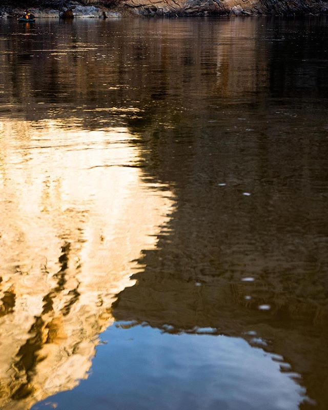 we caught glimpses of sun, but never our own reflections - just those of our surroundings