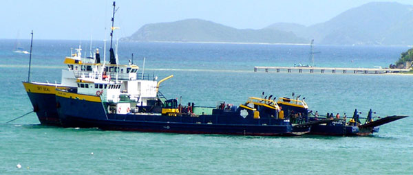 "M/V ""Island Seal"" & M/V ""Pacific Seal"" anchored"