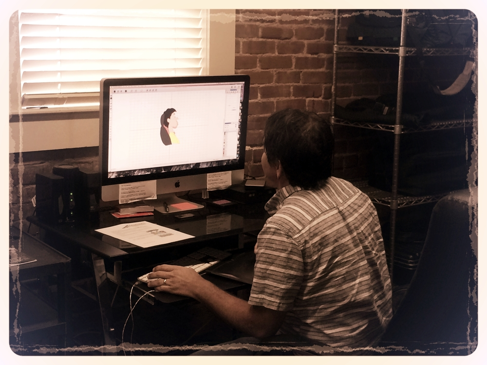 6 STRONG MEDIA motion graphic designer creating characters for an animated marketing video project.