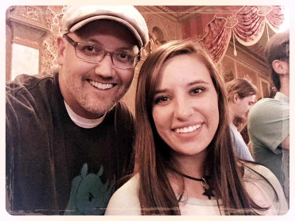 6 STRONG MEDIA founder Kris Simmons with his daughter Wimberly at a Ben Folds concert in Knoxville, Tennessee.