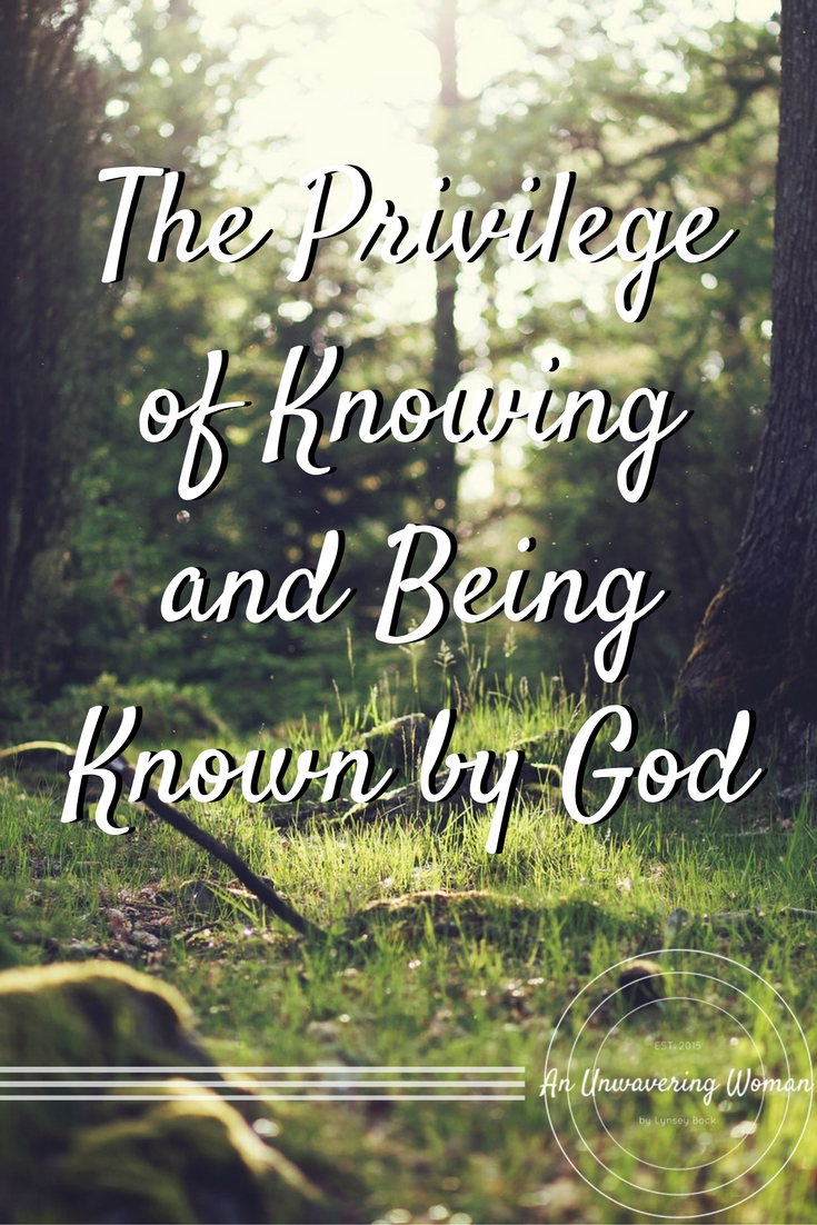 Knowing and Being Known by God