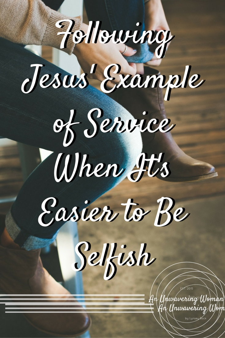 Following Jesus' Example of Service