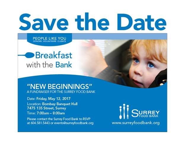 We are PROUD to be a part of this great event again this year.  The Surrey Food Bank has a goal of raising over $100,000 in just one hour to support food programs.