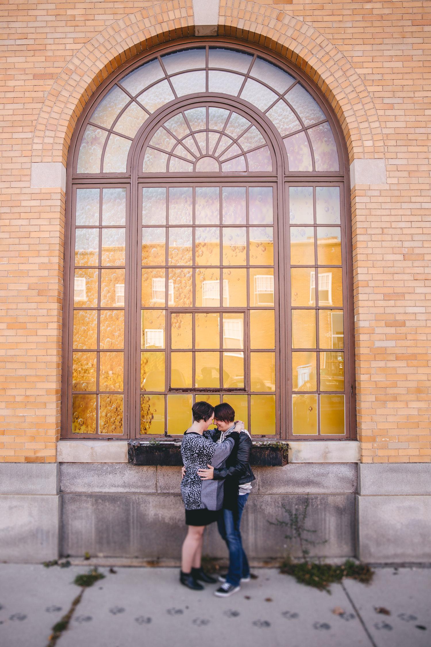 melissa + danielle | engagement | michigan state university