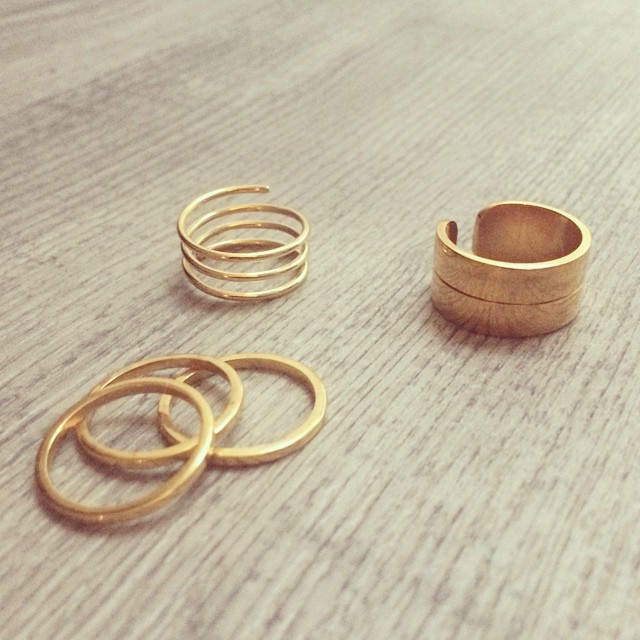 Simplicity ✨ #minimaljewelry #ring #rings #goldplated #simple #jewellery #jewelry #stack #accessories #gold #minimalist #ezkarren