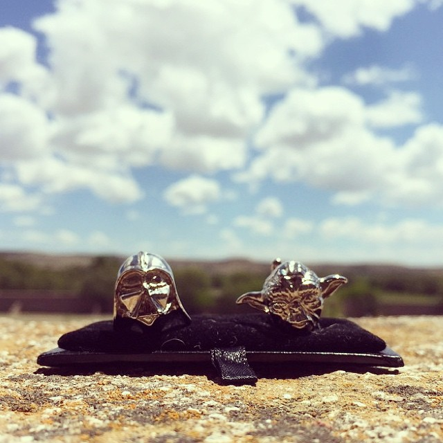 Custom made #cufflinks #maytheforcebewithyou #inagalaxyfarfaraway
