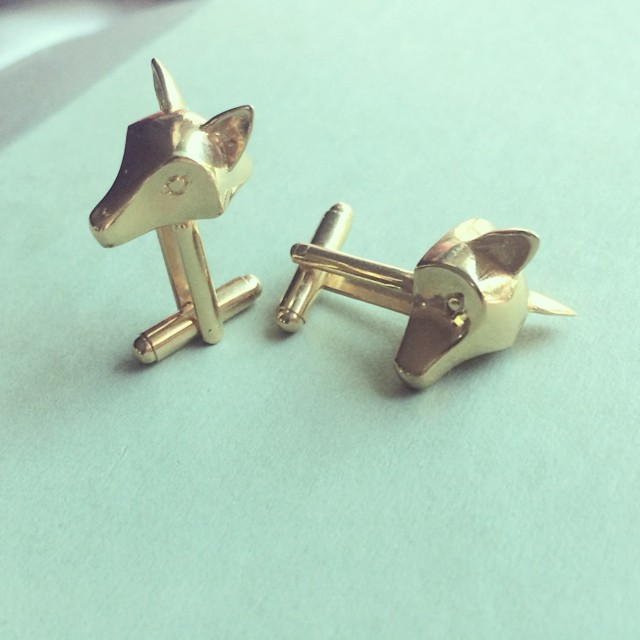 Fox 🐺🐺 #cufflinks #ezkarren #fox #goldplated #mens #mancuernillas #madeinmexico #design #zorros