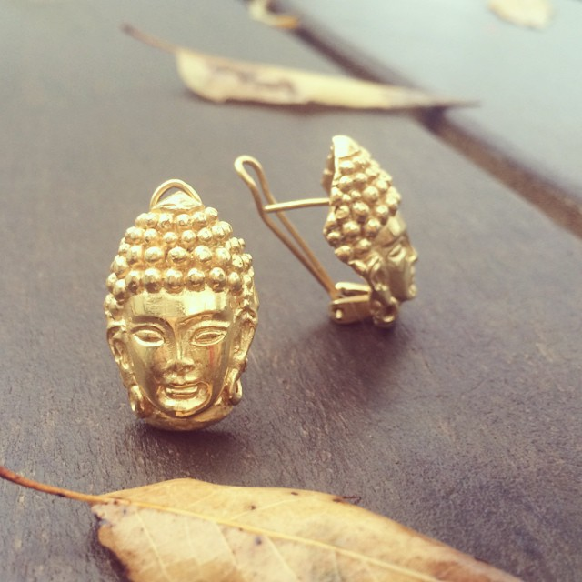 Buddah pair 💛 #earrings #jewelry #buddah #statement #jewelry #made #in #mexico #jewellery