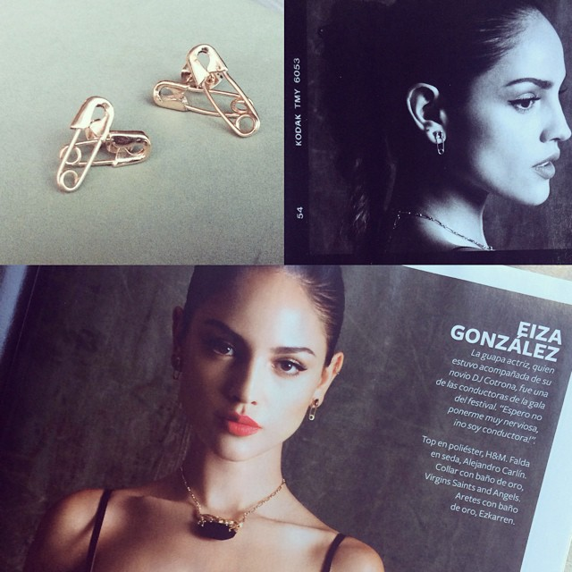 Amazing shots, thanks!! 👏😍@instylemexico @eizagonzalez #safetypinearrings #ezkarren #jewelry #gold #pretty #instyle #mexico #magazine #january #2015 #issue #joyeria #madeinmexico #earrings