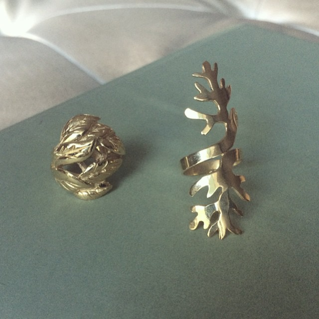 Rings #nature #inspired #trees #leaves #golden #jewelry #rings #statement #pieces