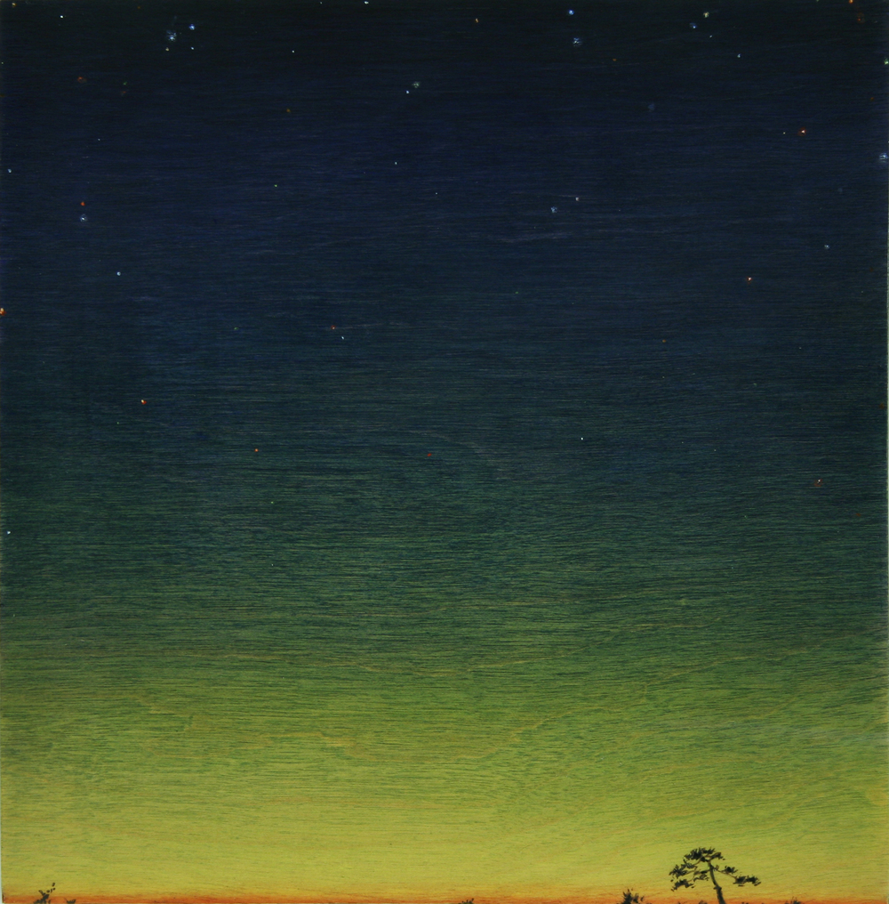 Chris Ballantyne   Dawn (Tree),  2014 acrylic on panel 8 x 8 in