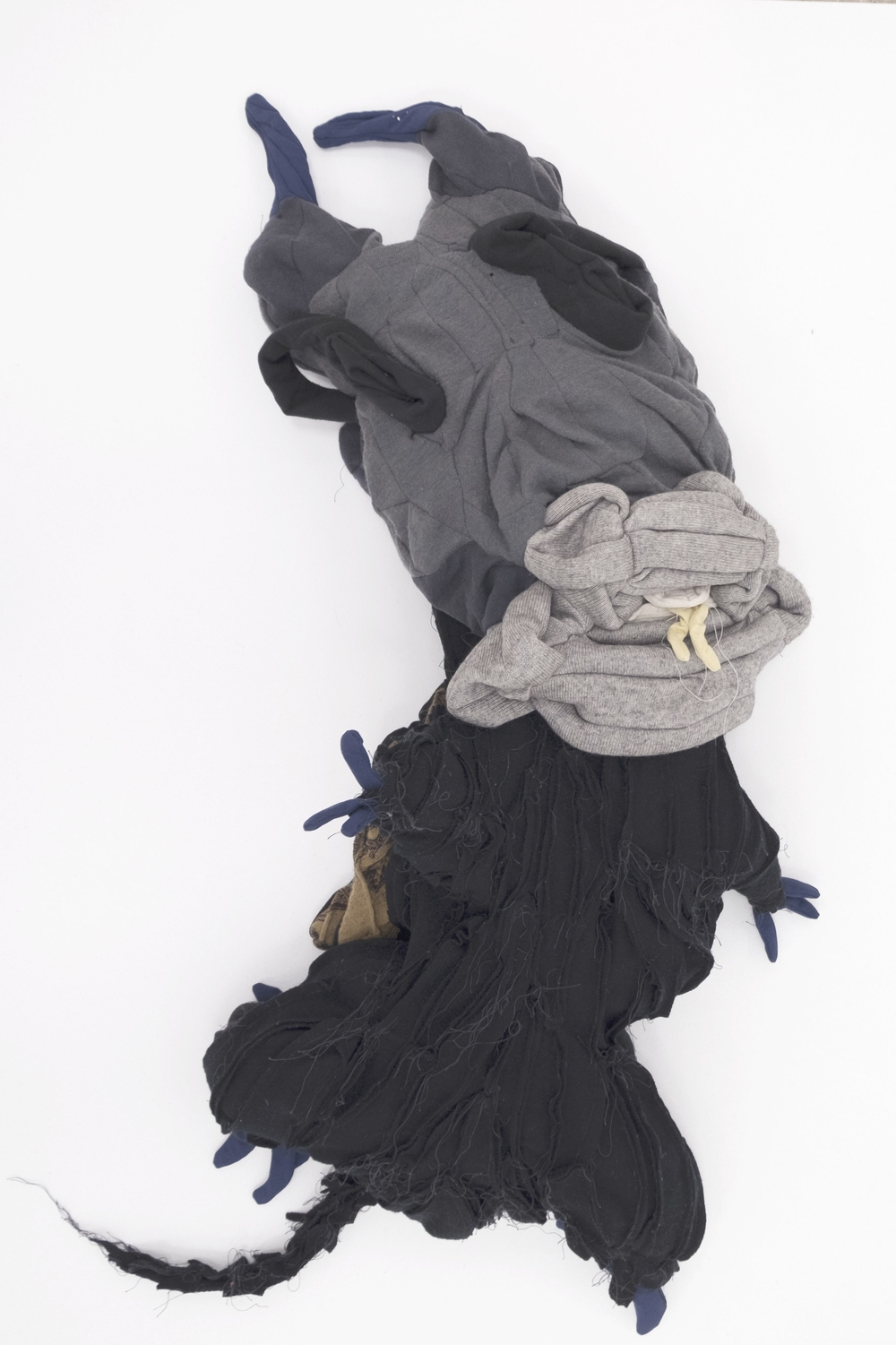 Peter Opheim  Anne,  2016 previously worn clothing from a single individual 39h x 15w x 8d in.