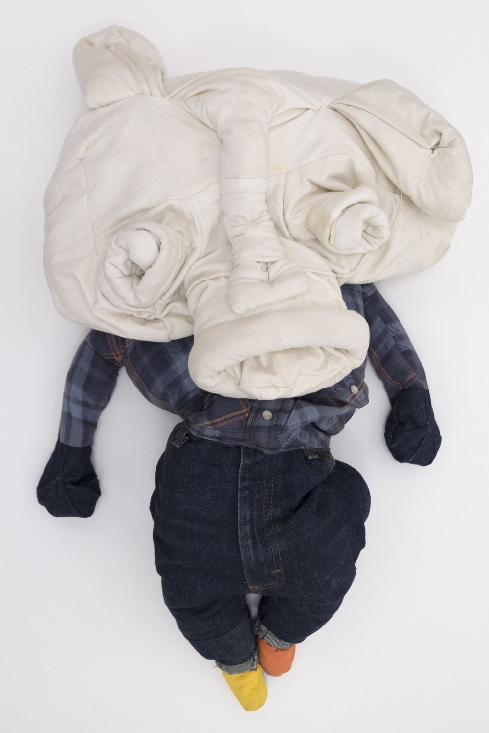 Peter Opheim  David,  2015 previously worn clothing from a single individual 39h x 19w x 10d in.