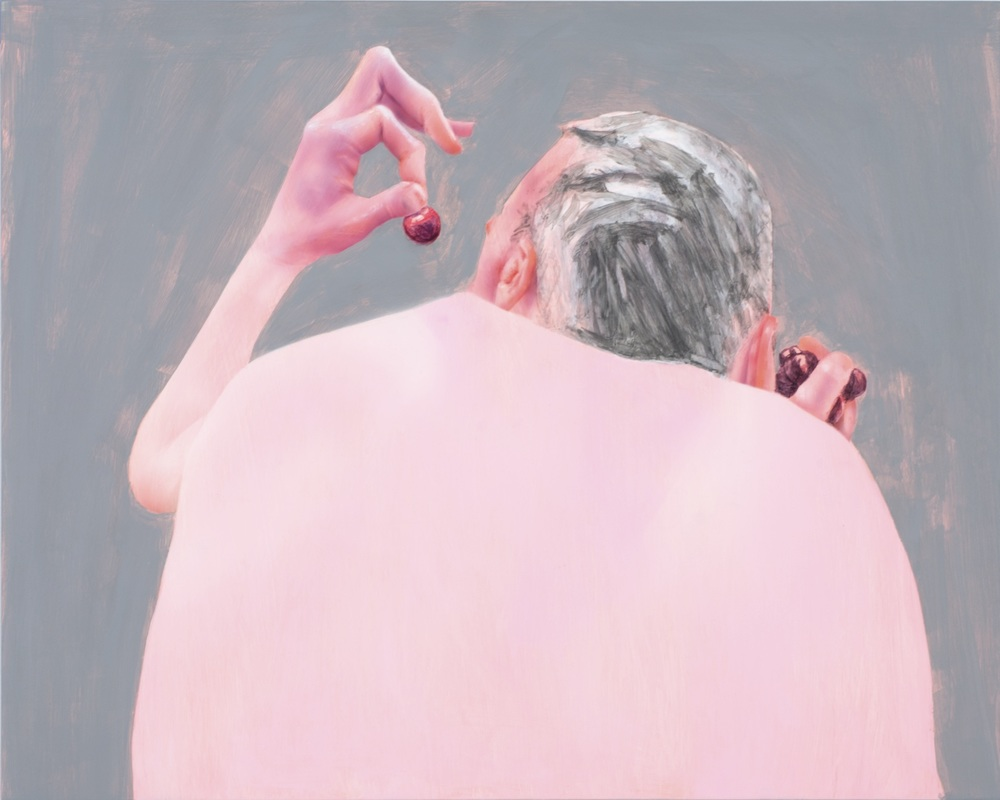 Robert Feintuch  Two-Fisted,  2014 Polymer emulsion on honeycomb panel 19h x 23.75w in.