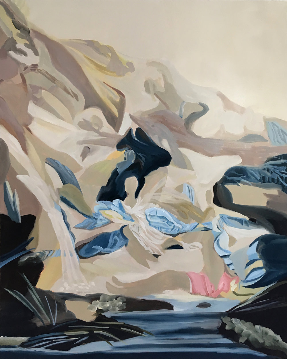 Kimberly Brooks  The Myth of the Cave , 2017 oil on linen 44h x 36w in.