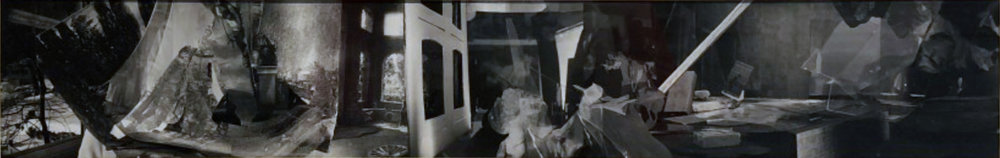 John O'Reilly  Around a Victorian Album Page , 2003 polaroid montage 3.75h x 23w in