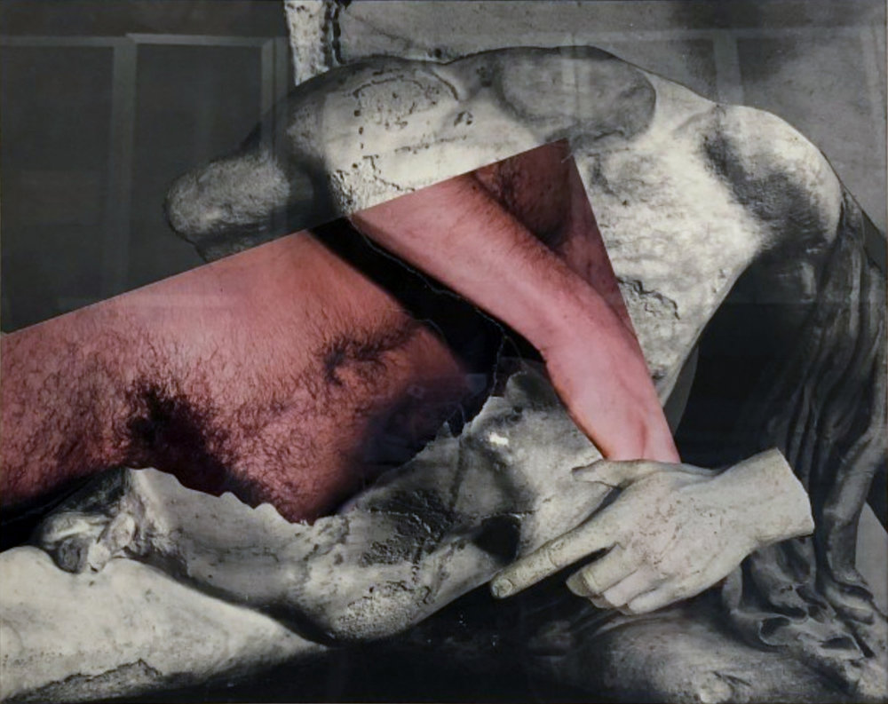 John O'Reilly   Greek Torso , 2010  halftone montage  10.88h x 13.70w in