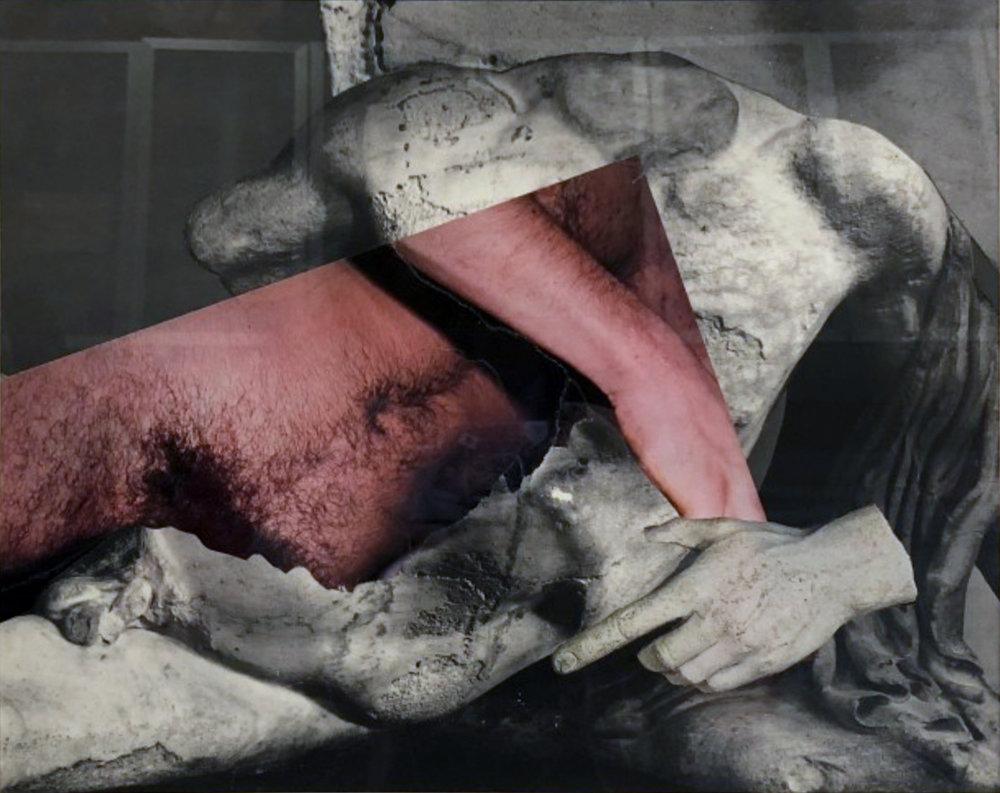 John O'Reilly   Greek Torso , 2010  halftone montage  10.88h x 13.70w in