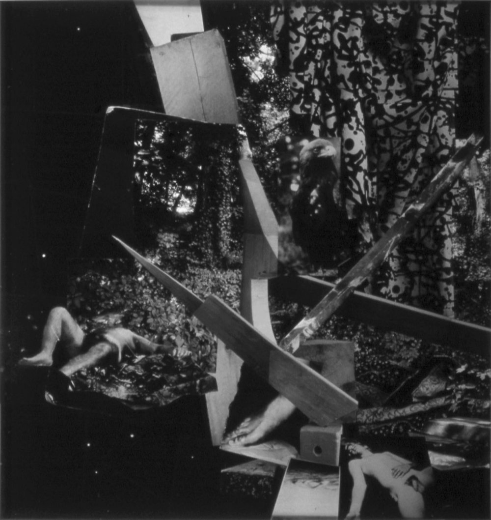 John O'Reilly  On Gerard Manley Hopkins 2 , 2007  polaroid montage 16h x 15w in