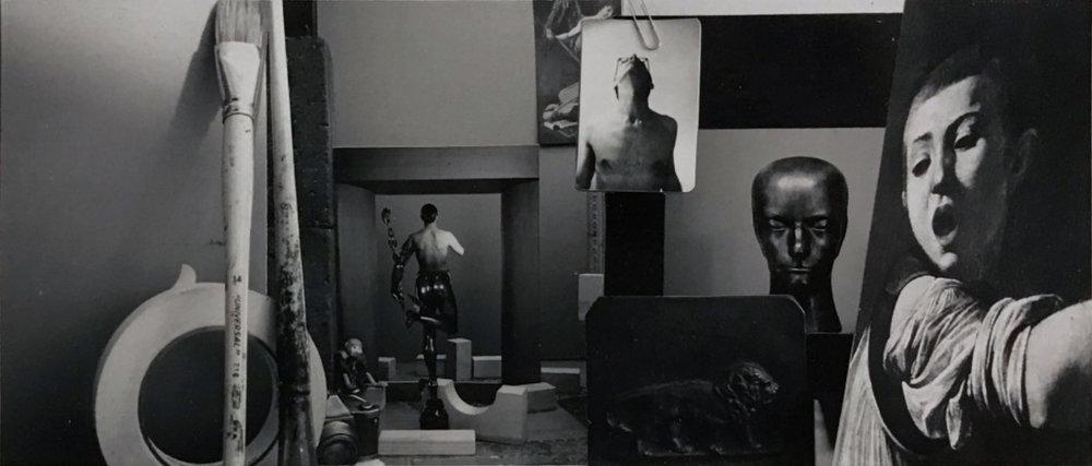 John O'Reilly   The Portal , 1987  polaroid montage  3h x 8w in