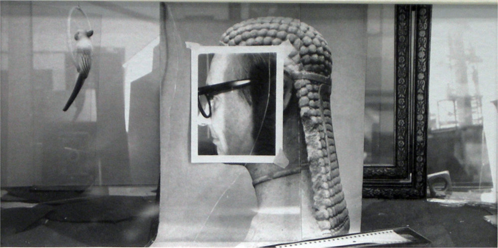 John O'Reilly   The Parrot , 1988  polaroid montage  3h x 7w in