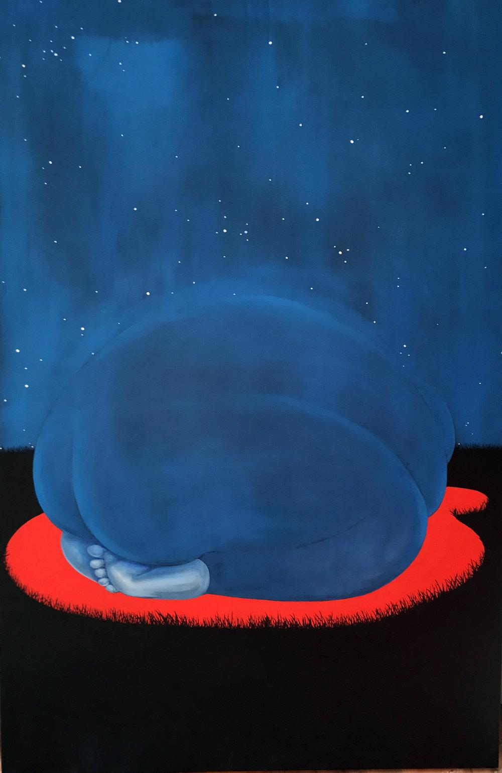 Brittney Leeanne Williams  INTERCEDING ROCK , 2018  oil and acrylic on canvas 60h x 40w in