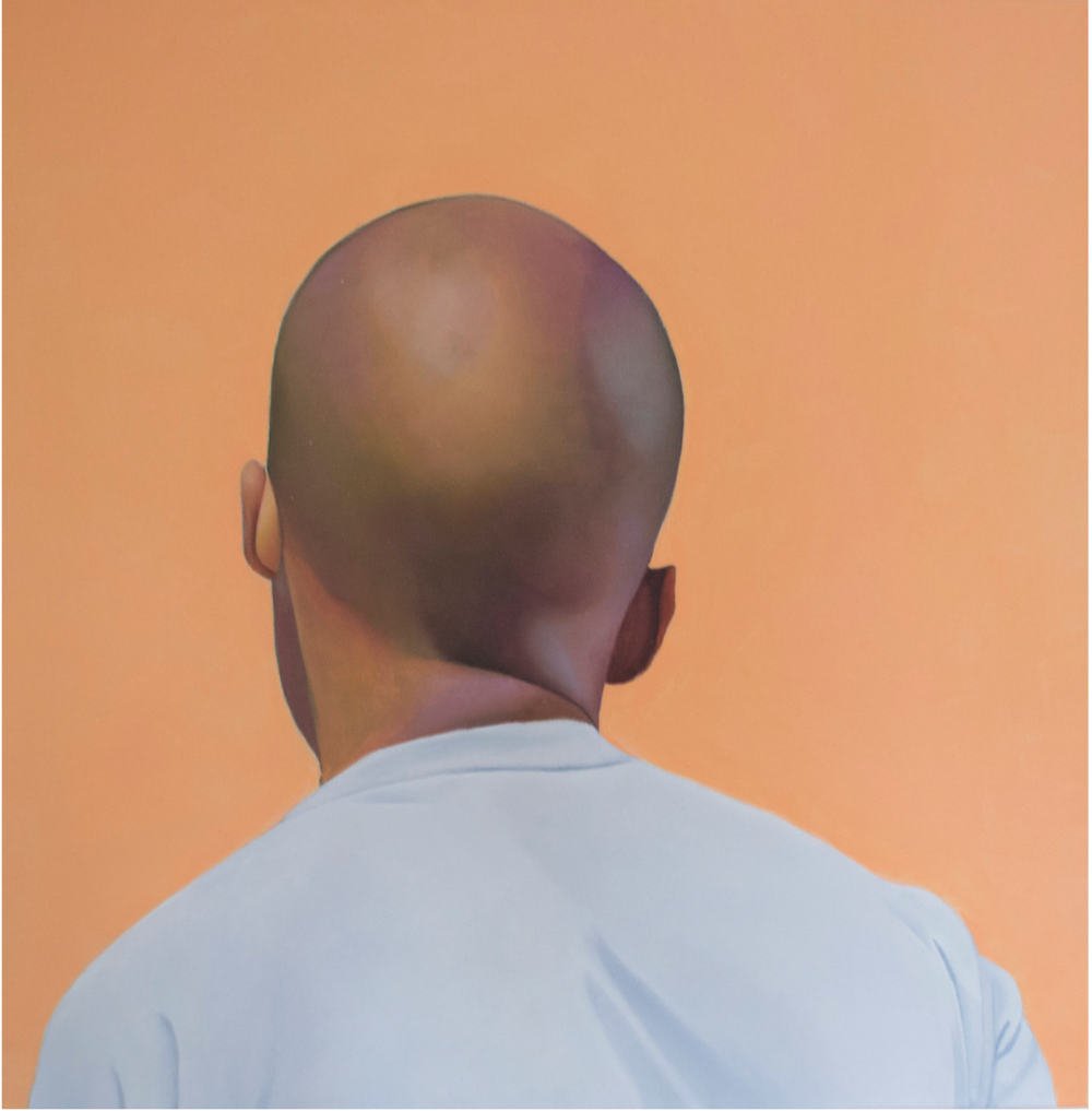 Jarvis Boyland  Untitled, (Crease in My neck) , 2017  oil on canvas 20h x 20w in
