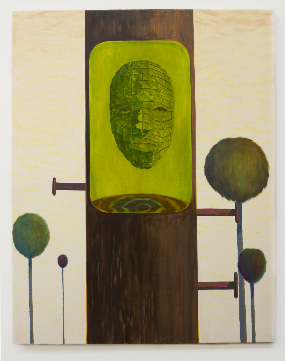 Alex Jackson  Pith , 2018 oil on canvas 43h x 34w