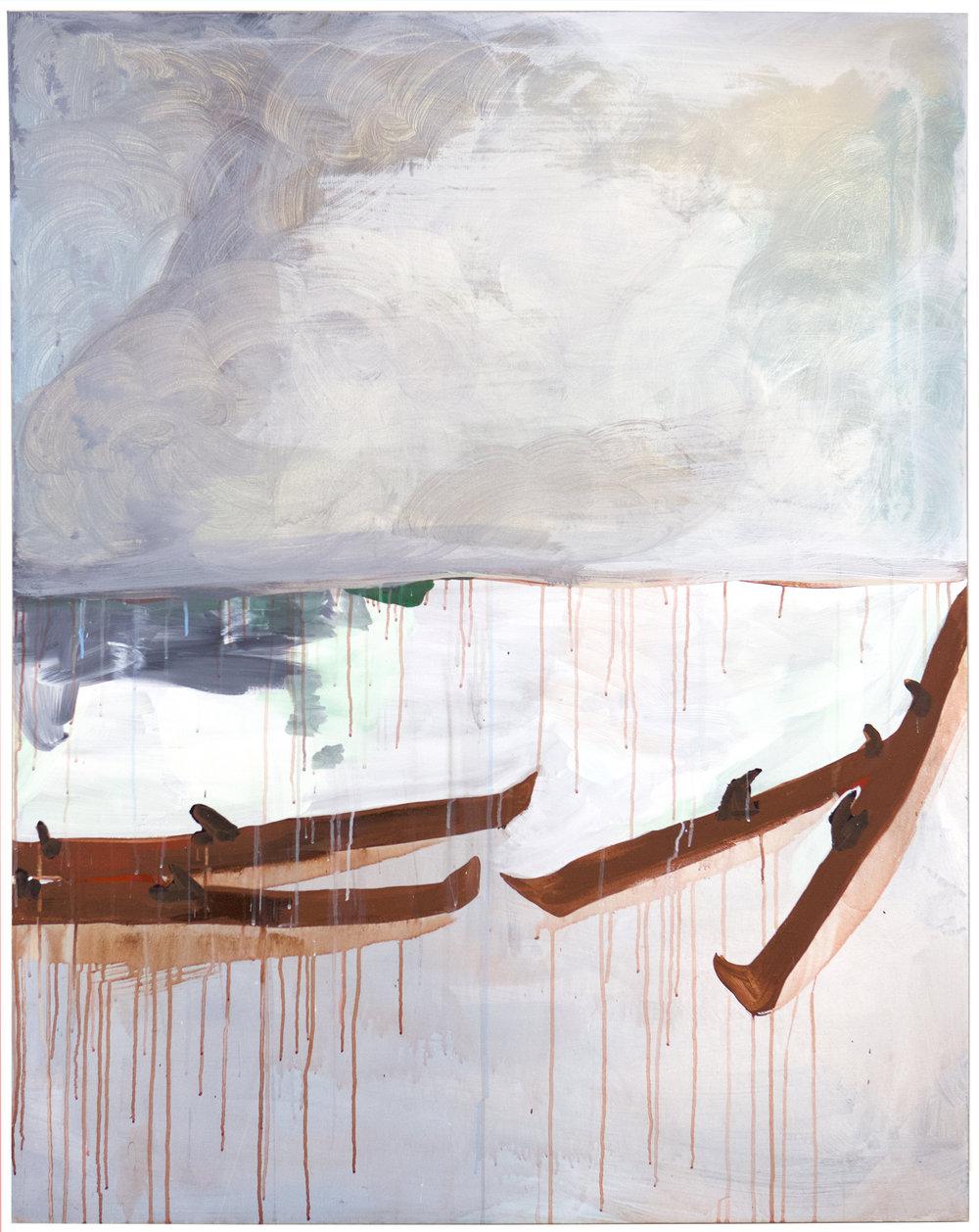 Sophie Lourdes Knight  Aprés Ski , 2018  acrylic on canvas 60h x 48w in