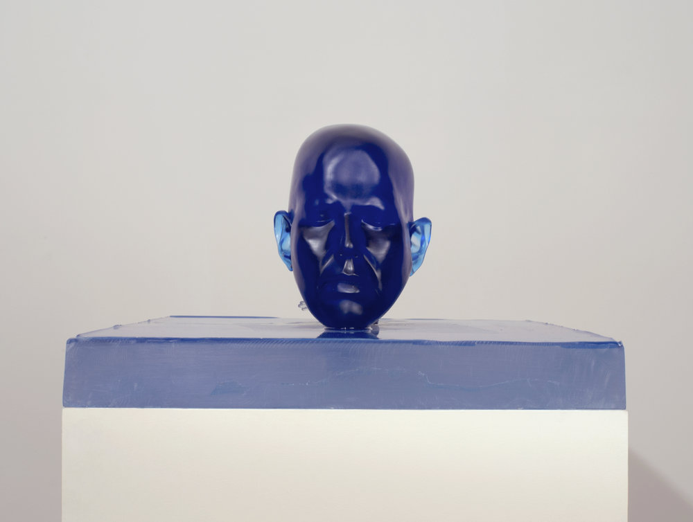 Rona Pondick  Standing Blue , 2015-17 pigmented resin, acrylic and epoxy modeling compound 10 1/4 x 17 3/4 x 27 in