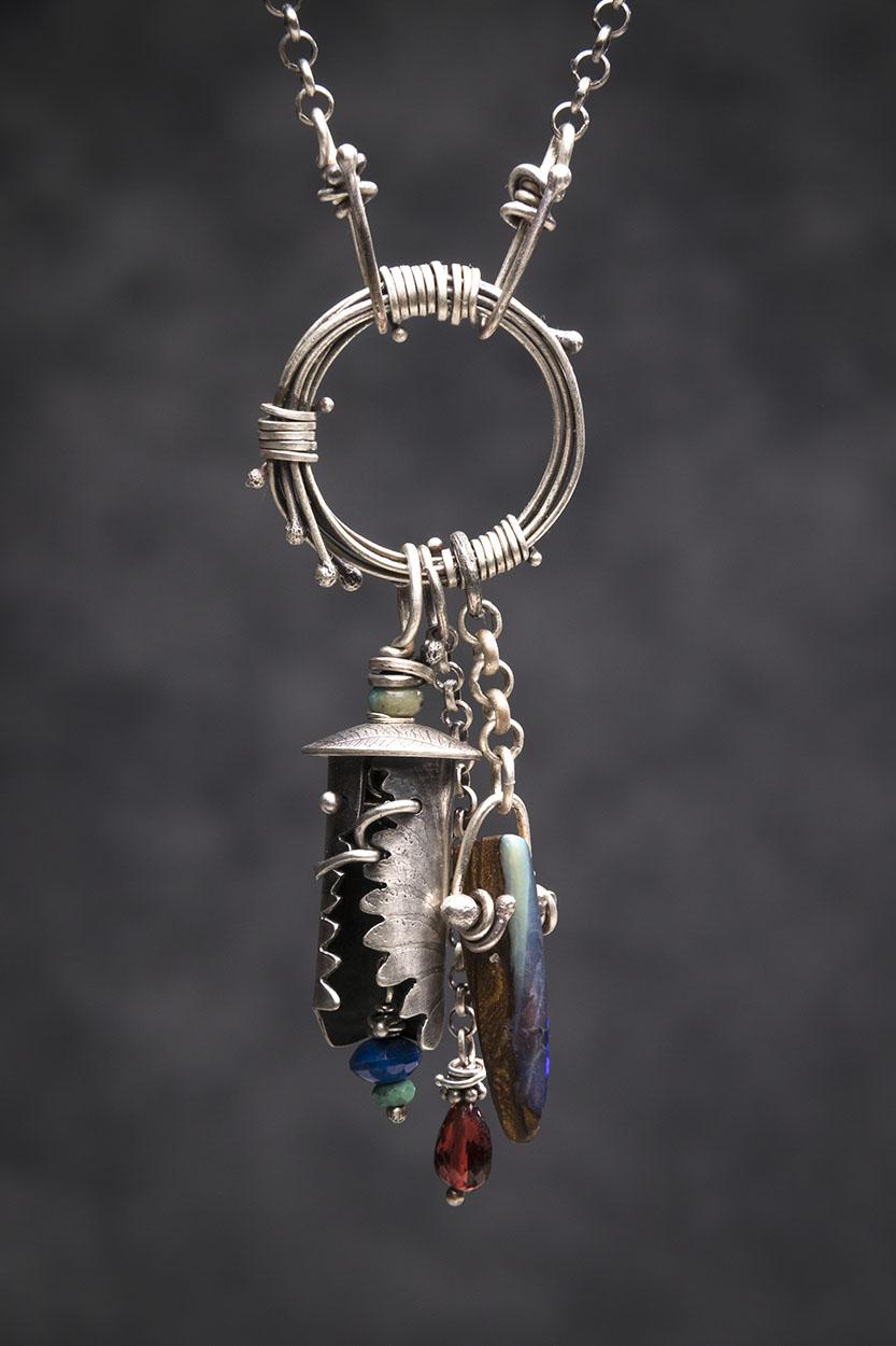 Celtic Bell Series: Sterling, Boulder Opal, Garnet, Lapis, Turquoise