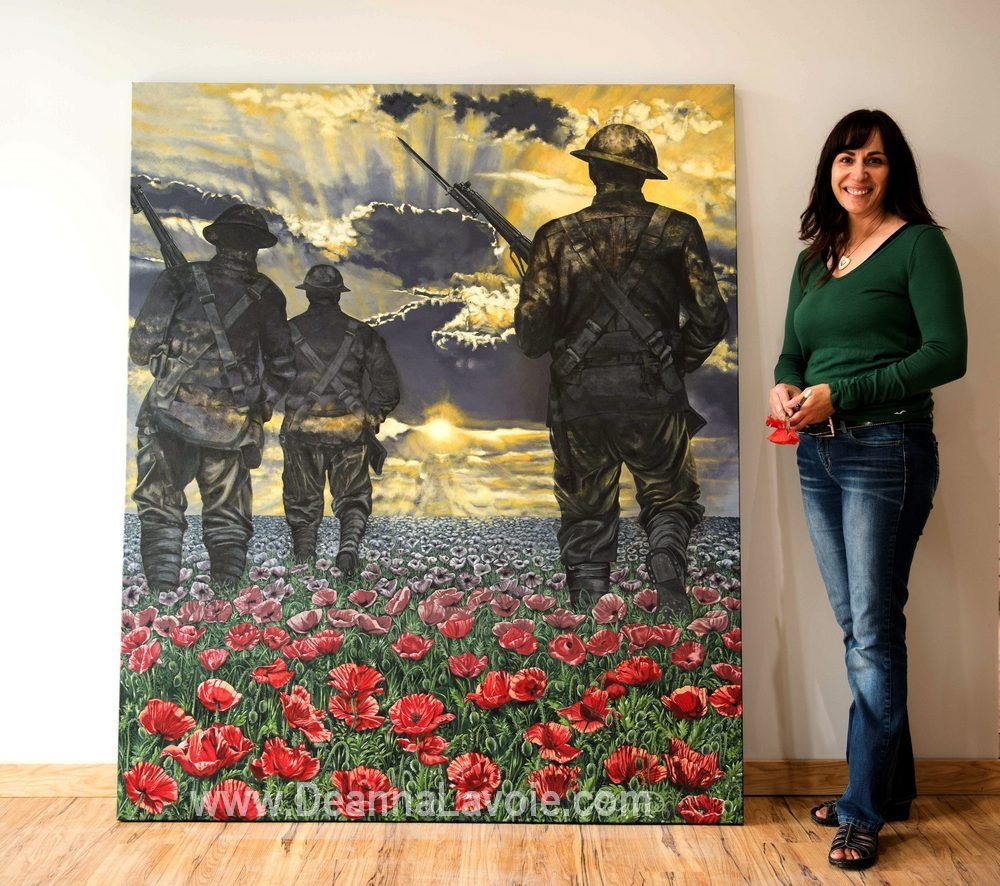 16The Journey to Remembrance 60 x 72 with Artist Deanna LavoieLOWRES.jpg