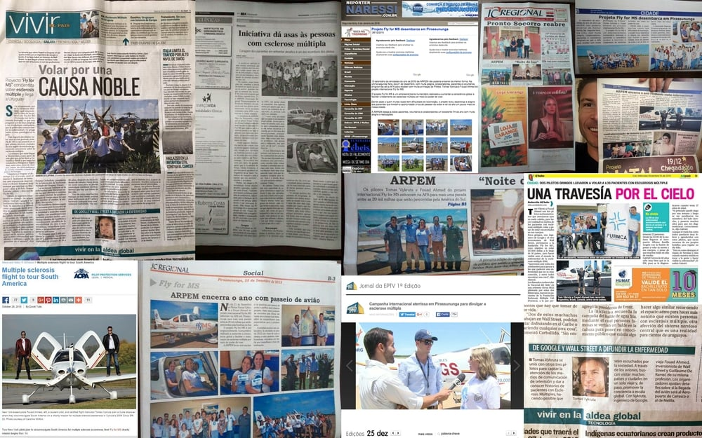 UNPRECEDENTED MEDIA FOR MS   Fly MS has been on WALLSTREET JOURNAL CBC CNN NBC TERRA TV EFE MSN WAPA GLOBO SUBRAYADO EL TORO INVENTARIO 22 DIARIO EL ARGENTINO AOPA SNT PARAGUAY EL PAIS DIARIO 25 LAS ULTIMAS 24 HORAS UNO WASHINGOTN TIMES
