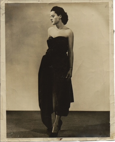 Mid 1950's, artist Vernice Brown Lassiter modeling for Saks Fifth Avenue and Lord and Taylor.