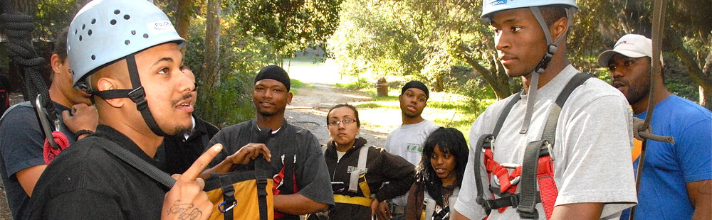 Temescal Canyon CBO discussion before climbing.JPG