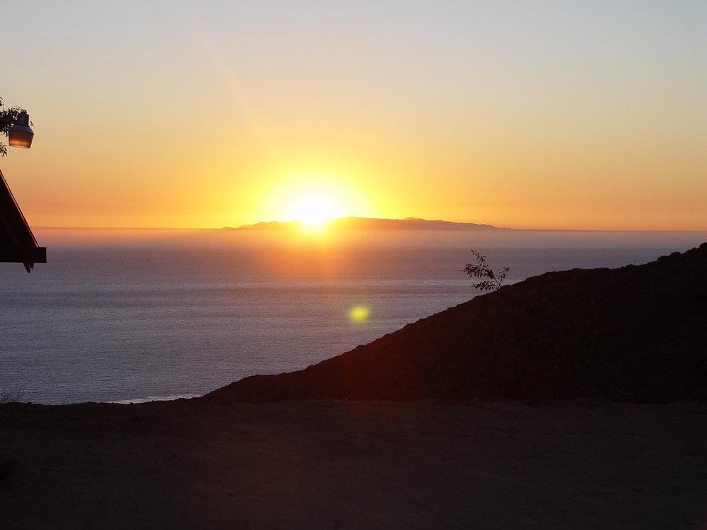 Malibu sunset over ocean.JPG