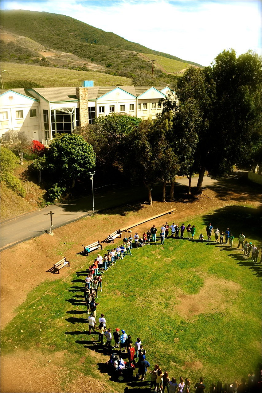 Camp Hess Kramer opening circle overhead.jpg