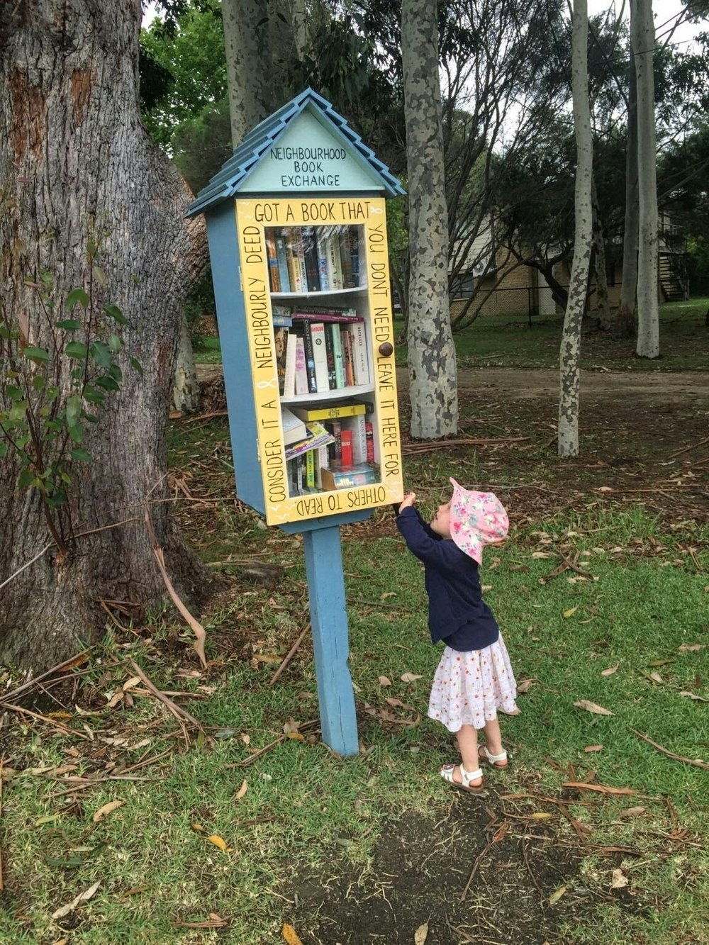 Street Library in a park