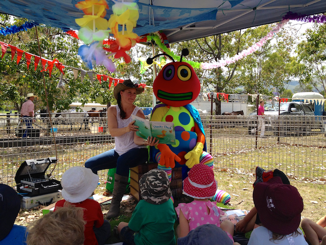 Doug the Reading Bug at Dungog Show