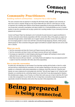 How to share the preparedness message with your community