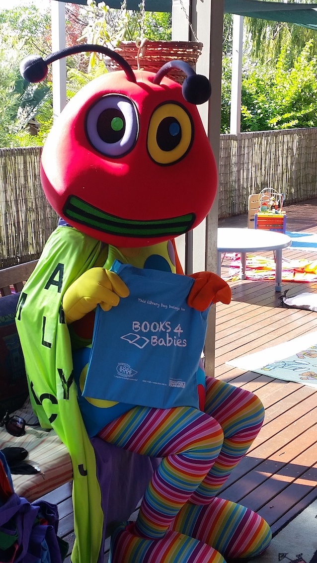 Doug the Reading Bug with Books for Babies bag.jpg