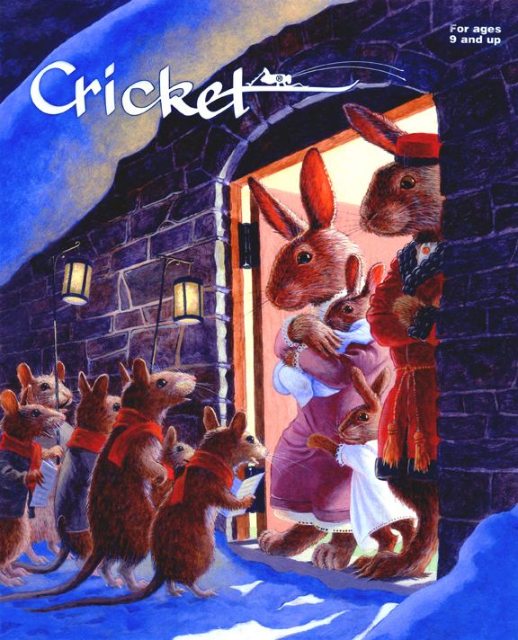 Cricket Magazine cover illustration, December 2003