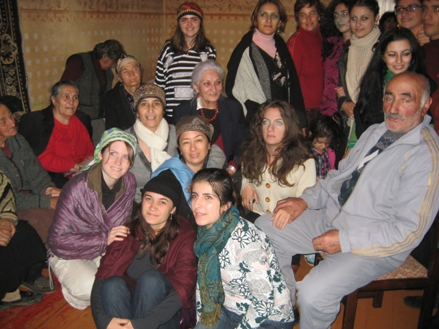 Kitka in Aparan, Armenia with Hasmik Hartyunyan, Jora Grigorian & ethnomusicology students from The Komitas Conservatory of Yerevan 2010