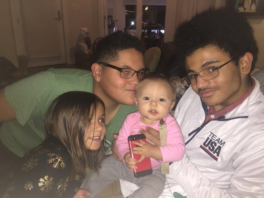 Our 4 Kiddos: Simon, Adrian, Eralyn & Ellie