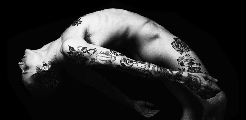 man with tattoos