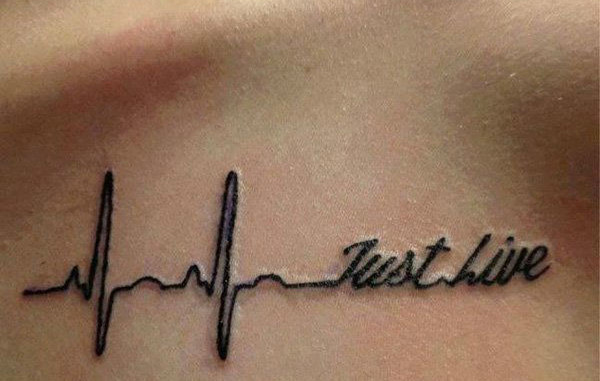 heartbeat tattoo just live